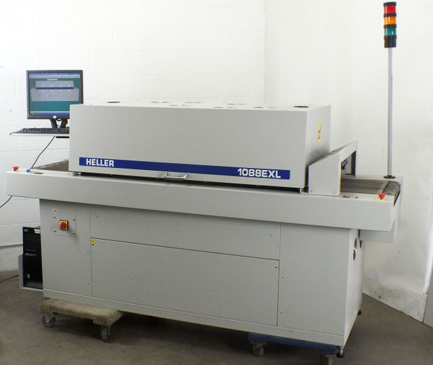 "Heller 1088 EXL Reflow Oven SMT PCB - 18"" Mesh Conveyor - 93"" Length - with PC"