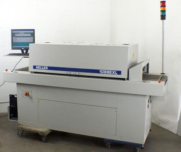 "Heller 1088 EXL Reflow Oven SMT PCB, 18"" Mesh Conveyor, 93"" Length"