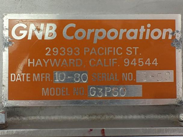 "GNB G3PSO 3"" Stainless Steel Pneumatic Gate Valve"