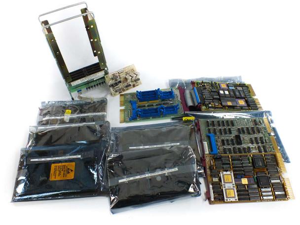 DEC PDP 11 Narrow Backplane and KDJ11-A KDF11-A DEQNA-M QBUS Computer Cards