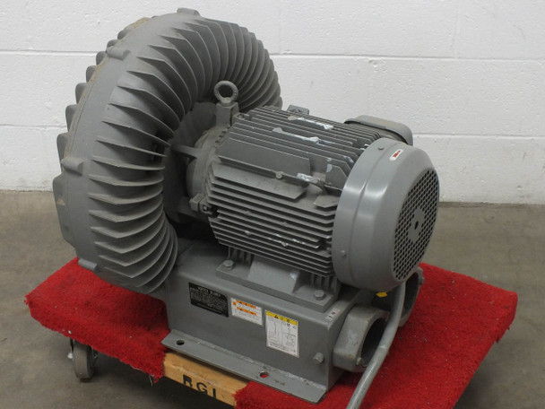 Hitachi VB-080-E2 12 HP Oil-Less Vortex Blower 513 CFM 9 KW 208/230VAC 3 Phase