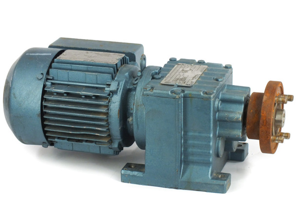SEW-EURODRIVE R27DT71D4TH 230/430 VAC 3-PH 1/3HP Gear Motor w/ 890LBS/IN Torque