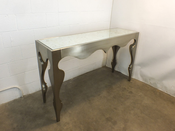 Artistica Vancleef White Brass Console Table