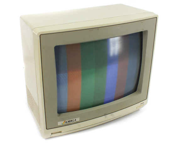Amiga 13-Inch VINTAGE CRT Monitor RCA & 9-Pin RGB Video & Audio Commodore 1985