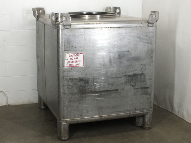 Hoover Group 350 Gallon Stainless Steel Tank / Beverage Tote - Food Grade