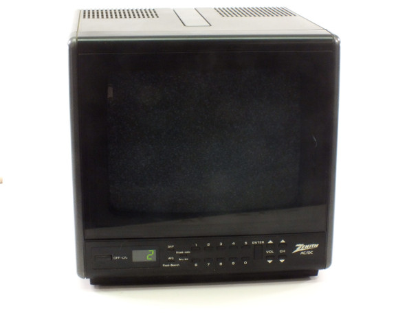 Zenith E0930S Television 9-inch AC DC 12V CRT TV
