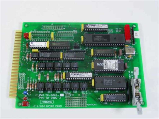 Hybond 8 Bit ISA 614/616 Micro Card PWA 20-0002 PWB 10-0002-A