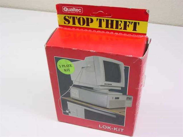 Qualtec 06127 Lok-Kit Plate and Cable Computer Security Theft Deterant