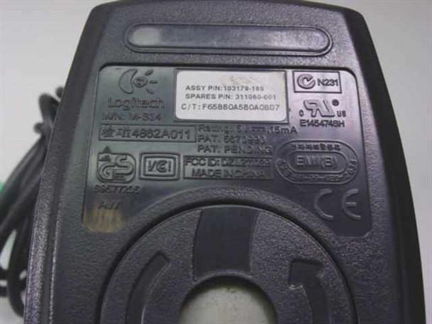 Compaq 2 Button PS/2 Mouse Logitech M-S34 Black (311060-001)