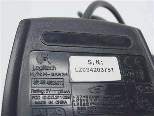 Dell M-SAW34 Black 2 Button PS2 Mouse Logitech