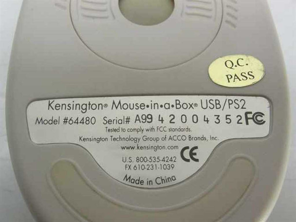 Kensington 3 Button USB Mouse with Scroll 64480