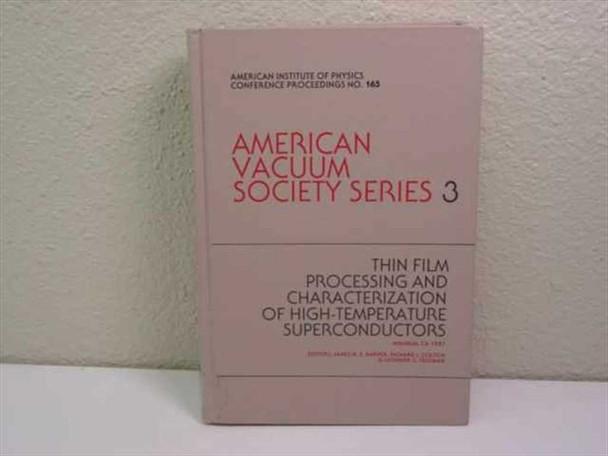 Harper, James M.E/Colton, Richard J. & Thin Film Processing and Characterization