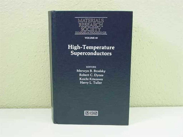 Brodsky, Merwyn B., et al Materials Research Society, 1988 High Temperature Supe