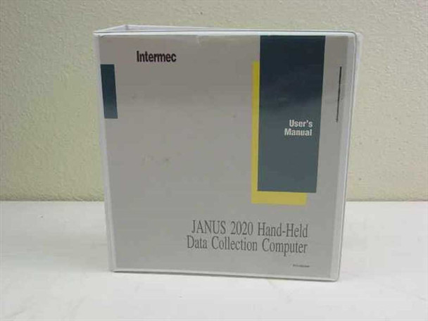 Intermec Janus 2020 Hand-Held Data Collection Computer User's Manual - 062366