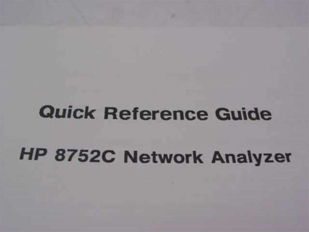 HP Network Analyzer Quick Reference Guide (8752C)