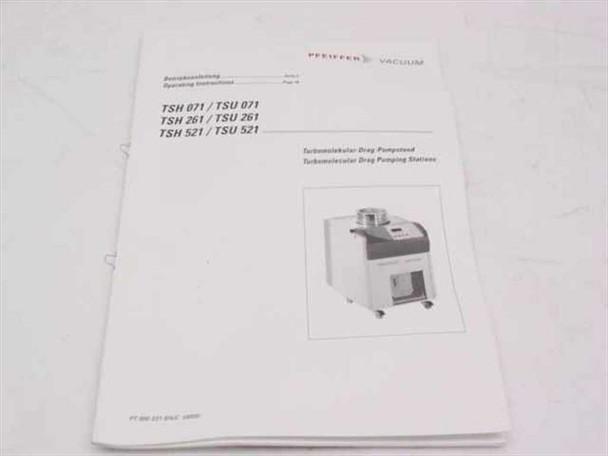 Pfeiffer Vacuum Turbomolecular Drag Pumping Stations Operating Ins 800 031 BN/C