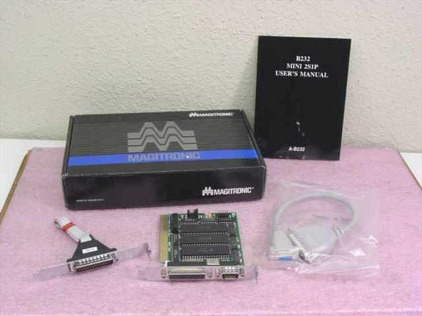Magitronic A-B232 Mini 2S1P 8-Bit ISA I/O Card 2 Serial and 1 Parallel Ports NOB