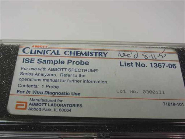 Abbott Spectrum ISE Sample Probe 1367-06