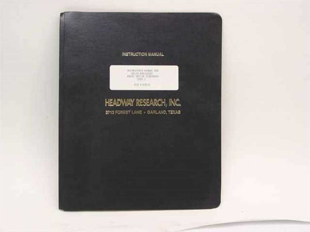 Headway Research Instruction Manual for EC102-NRD/EC101 Photo Resist Dispenser