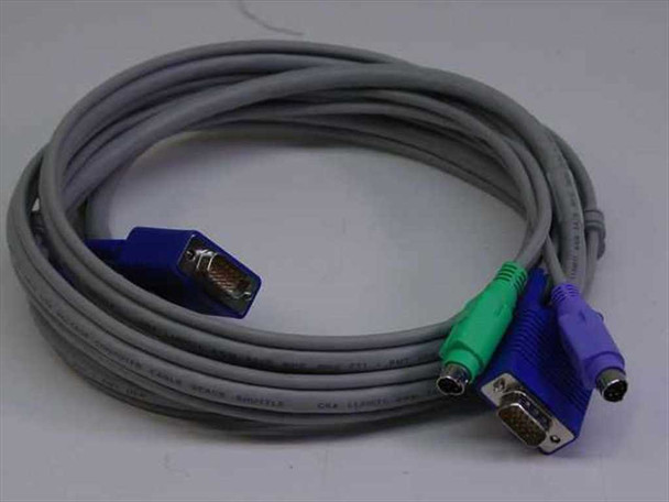 AWM 7' 15 pin VGA male w/ PS2 to 15 pin VGA male w/ PS 209864-0001