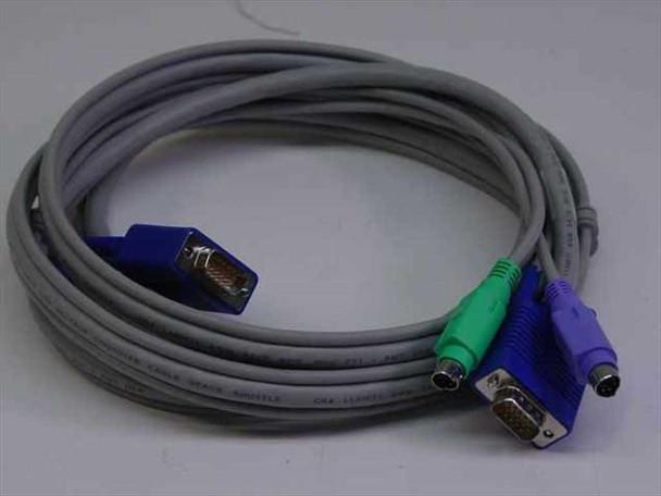 AWM 7' 15 pin VGA male w/ PS2 to 15 pin VGA male w/ PS 209864-0001