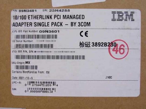 IBM 10/100 Etherlink PCI Managed Adapter - 3Com 09N3601