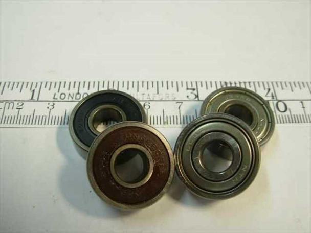 Steel 608 Ball Bearing 8x22x7mm 38000 RPM - SET OF 4 - Multiple Styles