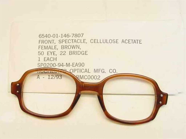 USS Classic Horn-Rimmed Eyeglasses Frame 6540-01-146-7807 Size: 50 Eye 22 Bridge