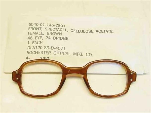 USS Classic Horn-Rimmed Eyeglasses Frame 6540-01-146-7801 Size: 46 Eye 24 Bridge