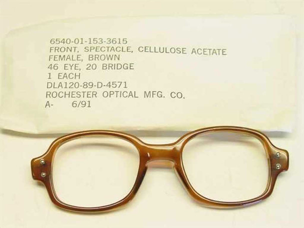 USS Classic Horn-Rimmed Eyeglasses Frame 6540-01-153-3615 Size: 46 Eye 20 Bridge