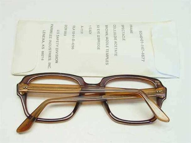 USS Classic Horn-Rimmed Eyeglasses Frame 6540-01-147-4677 Size: 52 Eye 22 Bridge