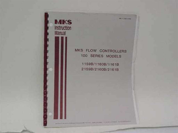 MKS Flow Controllers 100 Series Instruction Manual (195-111155 D-6/90)