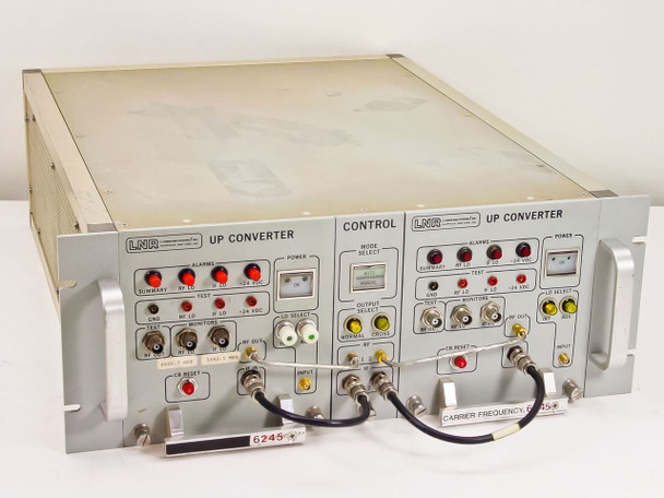 LNR UC6-D1 Dual C- Band Satcom Redundant Upconverters 120V w/ 004003-1 004003-2