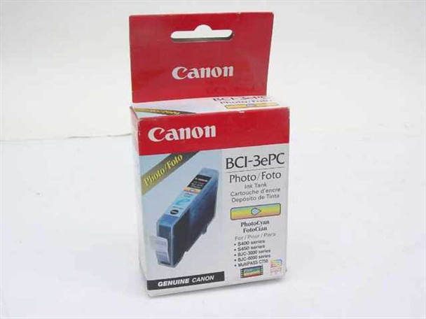Canon BCI-3ePC Photo Ink Tank Cyan for Vintage BJC Multipass Injet Printers