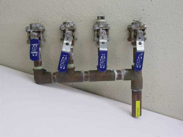 Custom 4 Valve Chill Water Manifold (N /A)
