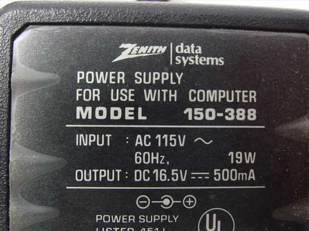 Zenith 16.5 V Power Supply - Barrel Plug (150-388)