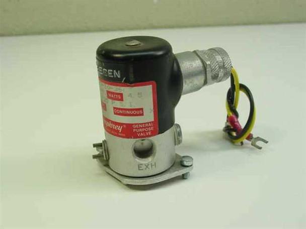 "Humphrey Solenoid Valve Inlet-Outlet 1/4""NPT, 0-125 Pressure, 24 Volts 4.5 Watts"
