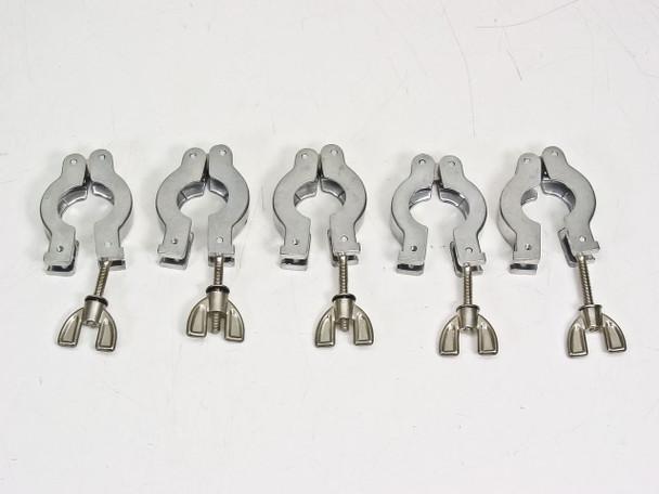Aluminum KF-16 LOT OF 5 Hinge Clamp Vacuum Fittings - ISO-KF Flange Size NW-16