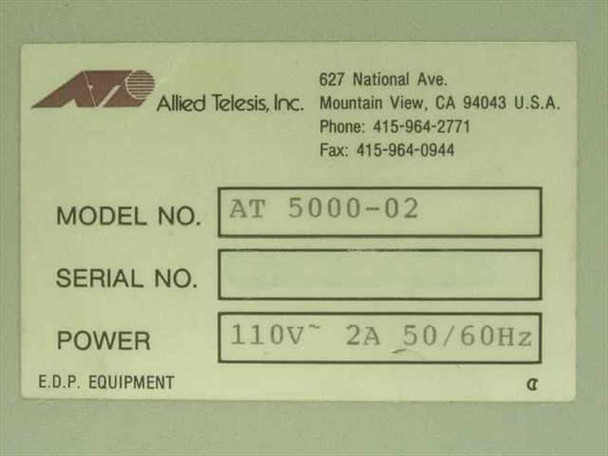 Allied Telesis Inc. CentreCOM 5000 Multimedia Concentrator AT 5000-02