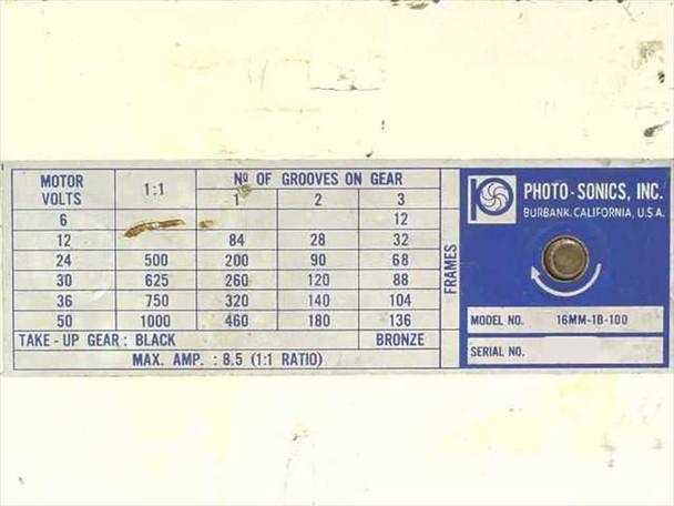 Photo-Sonics 16mm-1B-100 16MM Film Magazine