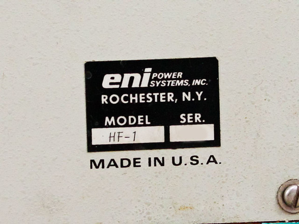 ENI Power Systems HF-1 RF generator solid-state aprx 750w O/P 100KHz to 450KHz