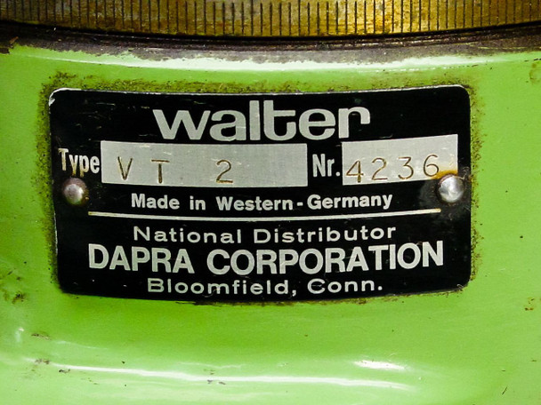 Dapra Corporation Walter Workholder Tool Table VT 2