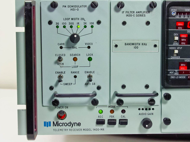 Microdyne Telemetry Receiver 105-316-81 Standard plug (1400-MR)