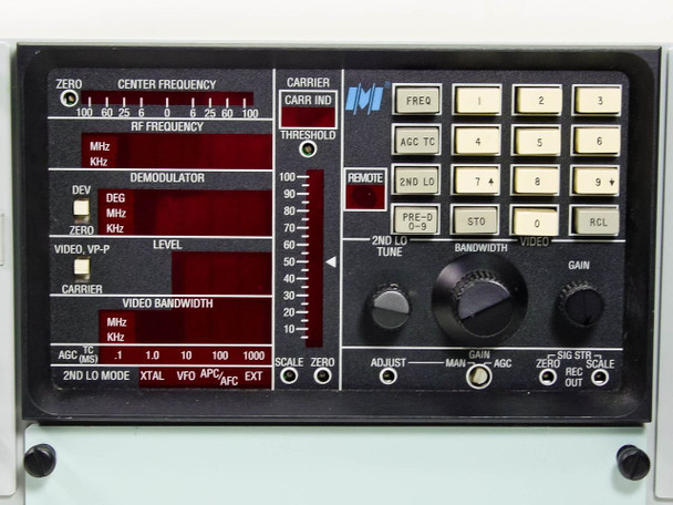 Microdyne 1400-MR Telemetry Receiver -Special Power Plug - SatCom (106-912-01)