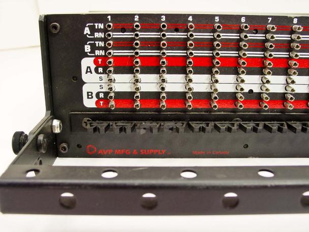 "AVP RPT48N Series 24-Port Audio Patch Panel 1/4"" Jacks - 19"" Rackmount 2U"