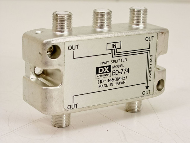 DX ED-774 4 Way Antenna Splitter 10-1450 MHz Coaxial