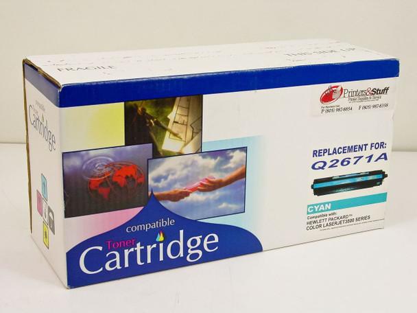 Generic  HP Compatible Color Toner Cartridge - Cyan Q2671A