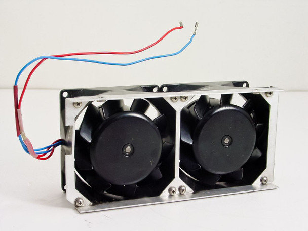 "Papst 3"" Dual 12 Volt Fan Assembly in Housing"