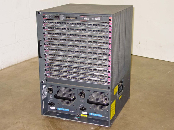Cisco 5500 13-Slot Catalyst Chassis w/ Cards: WS-X5530 WS-U5534 WS5225R - As Is