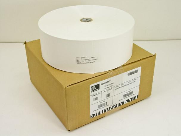 "Zebra 10009817 3-1/4"" Wide 3.8 MIL Receipt Labels - POLYPRO 4000D - New Open Box"